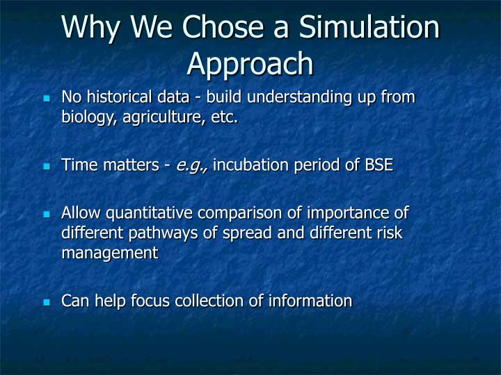 Why We Chose a Simulation Approach
