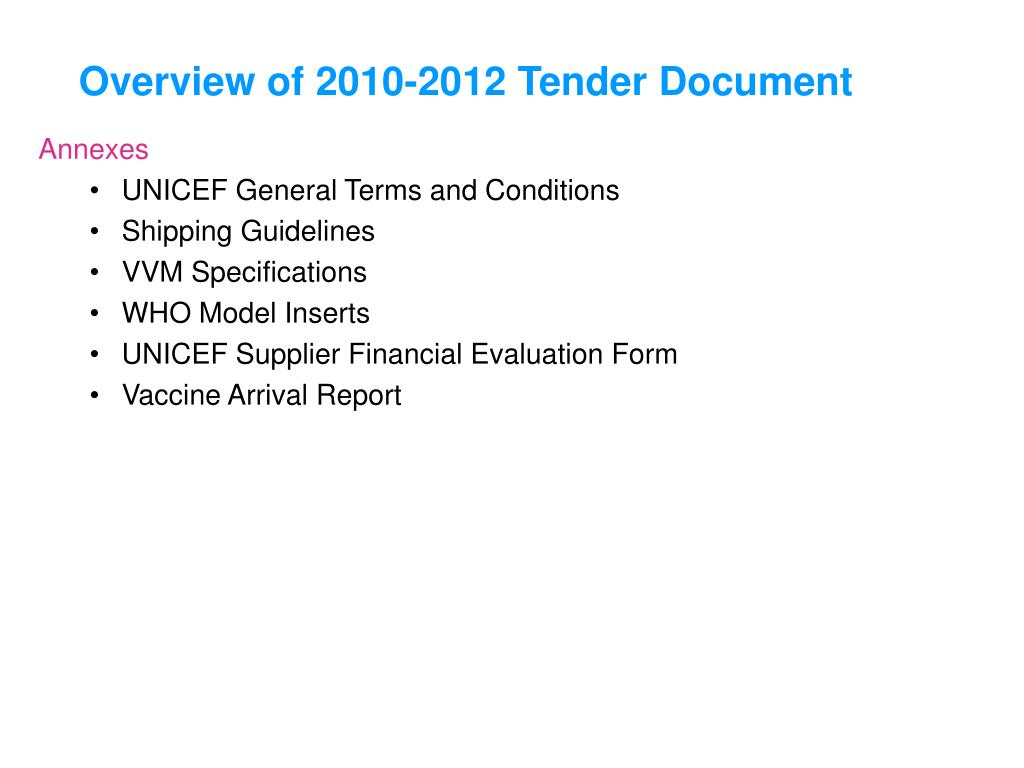 PPT - Procurement Overview and Tender Process PowerPoint