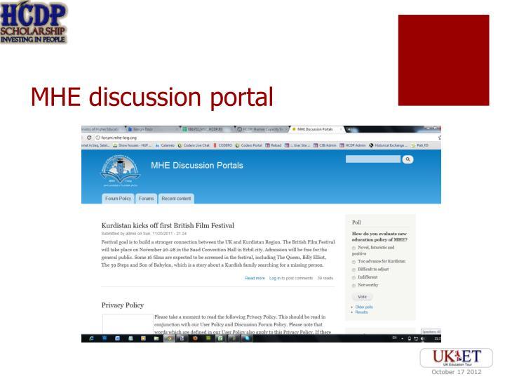 MHE discussion portal