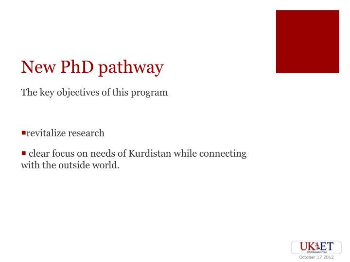 New PhD pathway