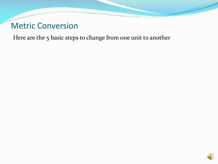 Metric conversion2