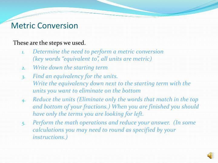 Metric Conversion