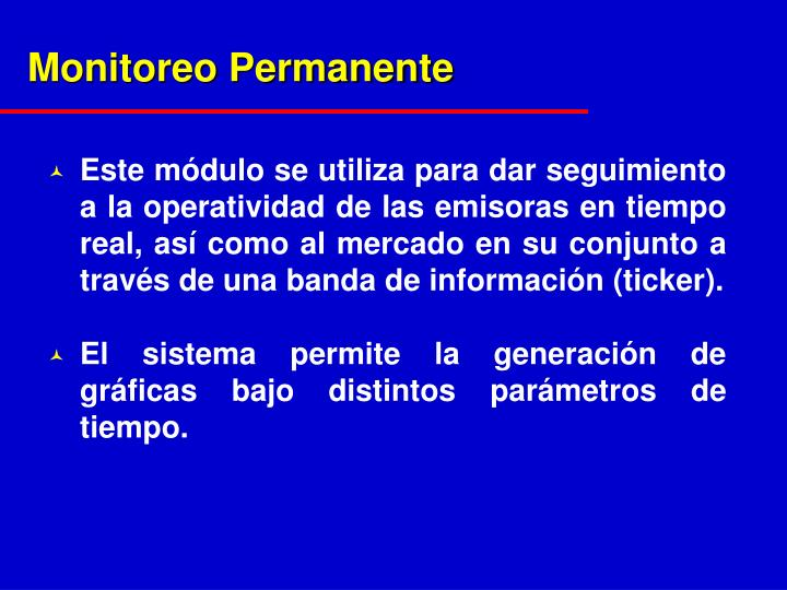 Monitoreo Permanente