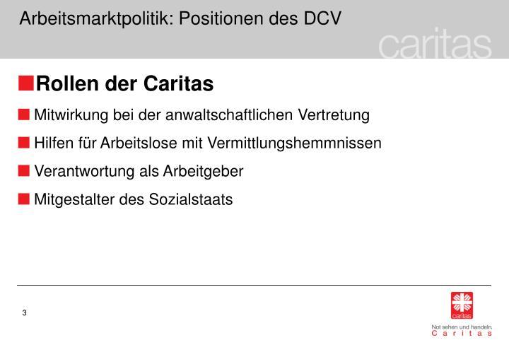 Arbeitsmarktpolitik positionen des dcv1