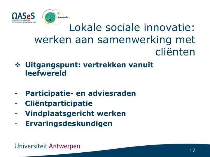 Lokale sociale innovatie: