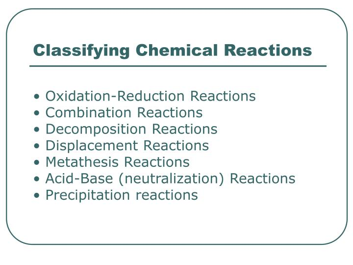 metathesis reaction precipitation Chapter 3 reactions combustion decomposition combination chapter 4 reactions exchange reactions (metathesis) example: precipitation reaction.