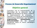 proceso de desarrollo organizacional1