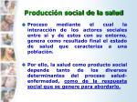 producci n social de la salud