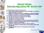 sector salud decreto ejecutivo n 33151 mp