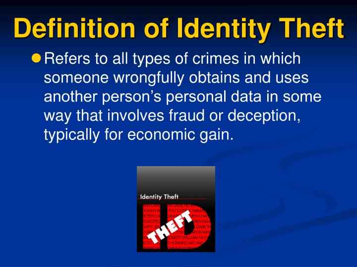 Definition of Identity Theft