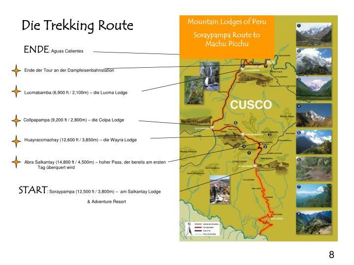 Die Trekking Route