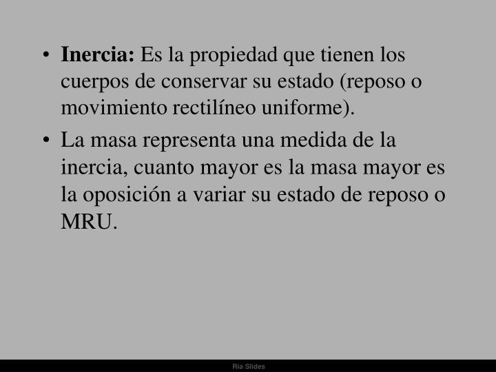 Inercia: