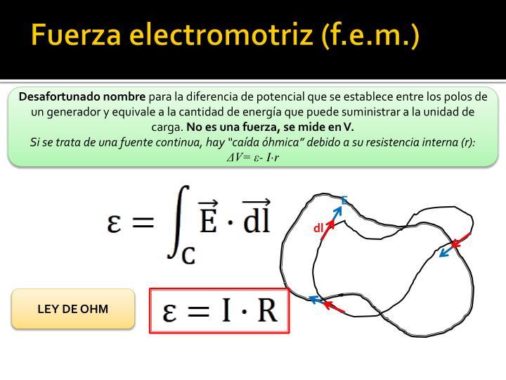 Fuerza electromotriz (f.e.m.)
