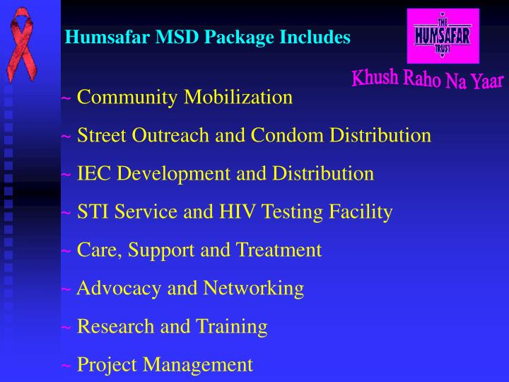 Humsafar msd package includes