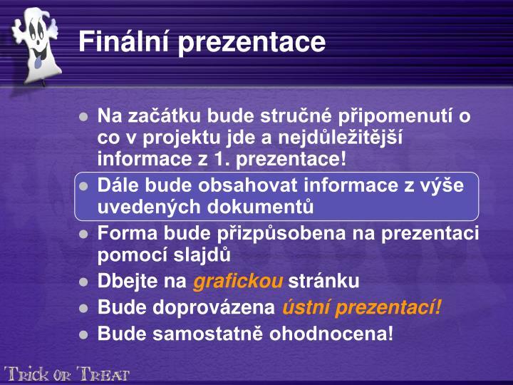 Finální prezentace