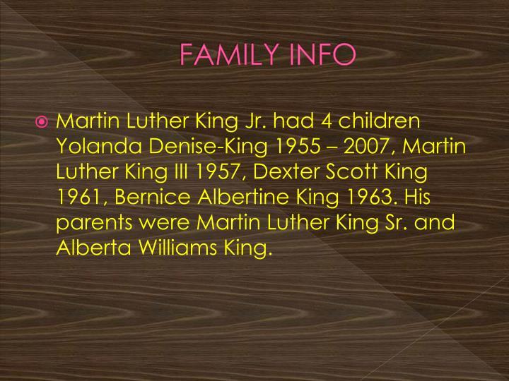Family info