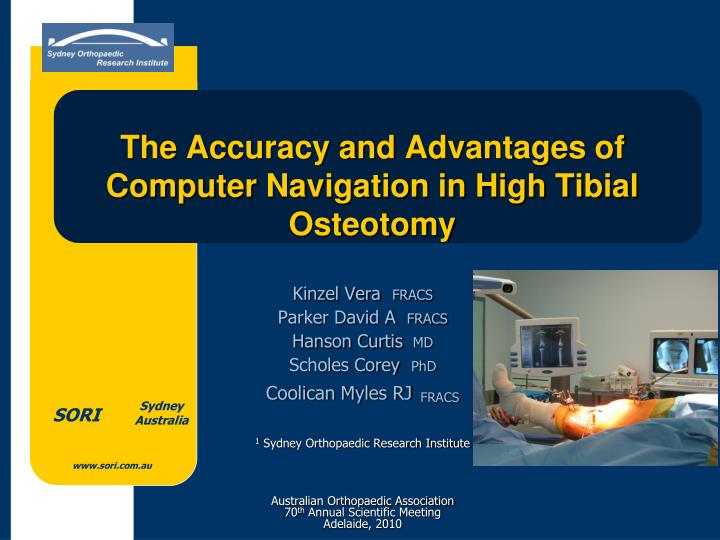 the accuracy and advantages of computer navigation in high tibial osteotomy n.