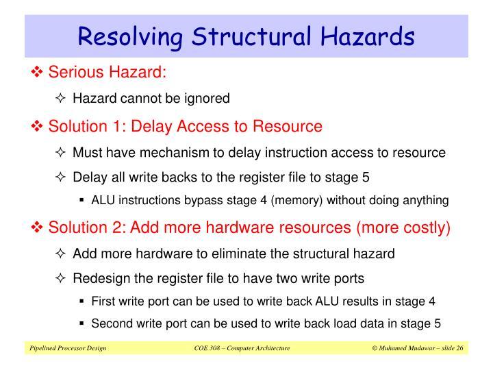 Resolving Structural Hazards