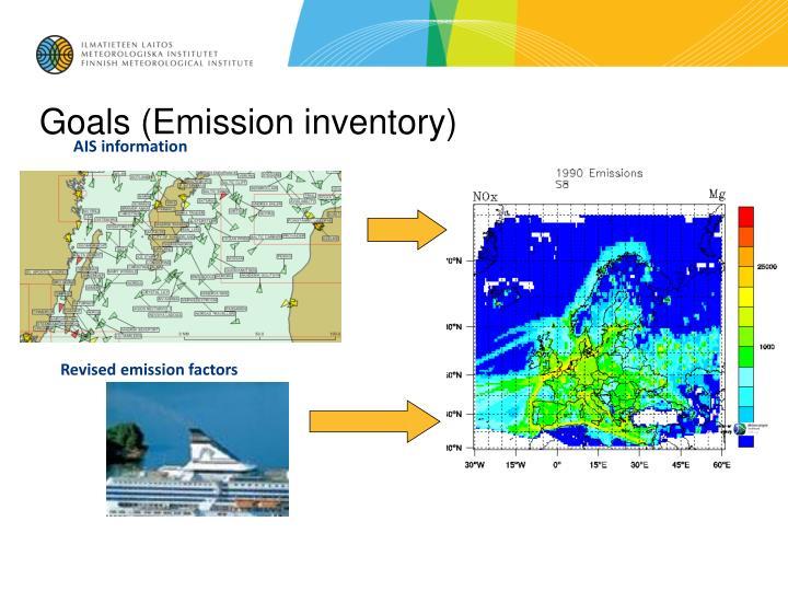 Goals emission inventory