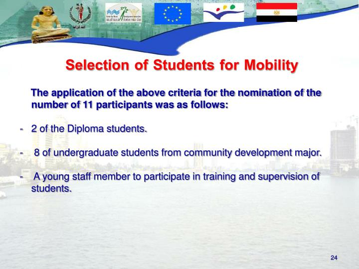 Selection of Students for Mobility