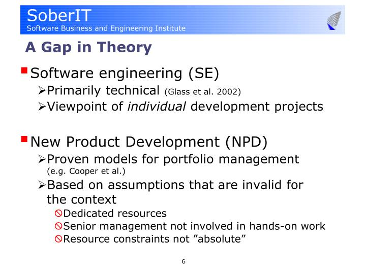 A Gap in Theory