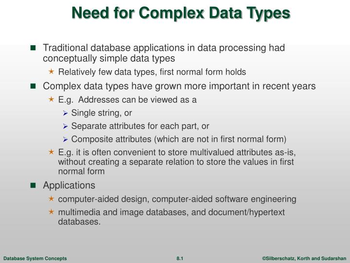 need for complex data types n.