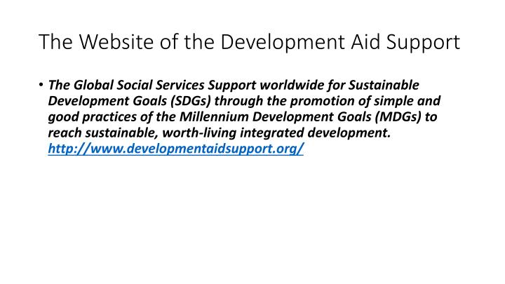 The Website of the Development Aid Support