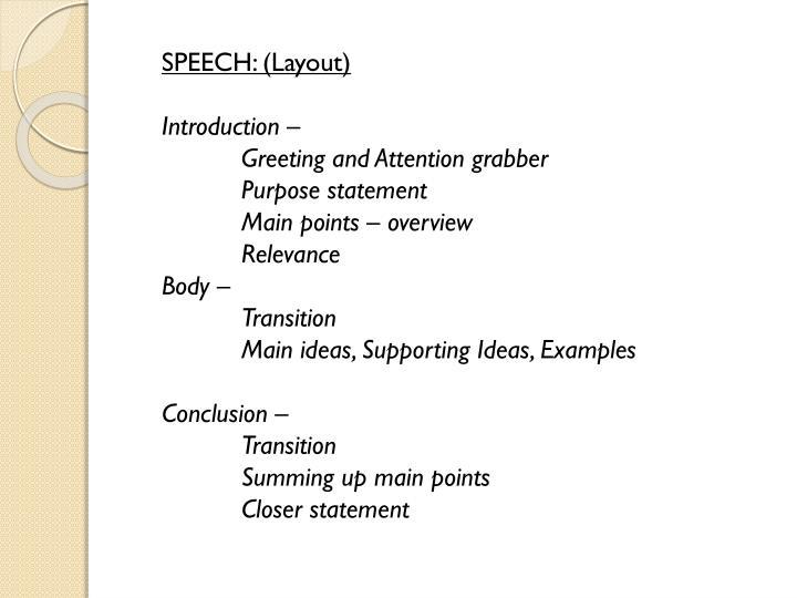 Ppt important discourses speech diary writing debate profile speech layout m4hsunfo