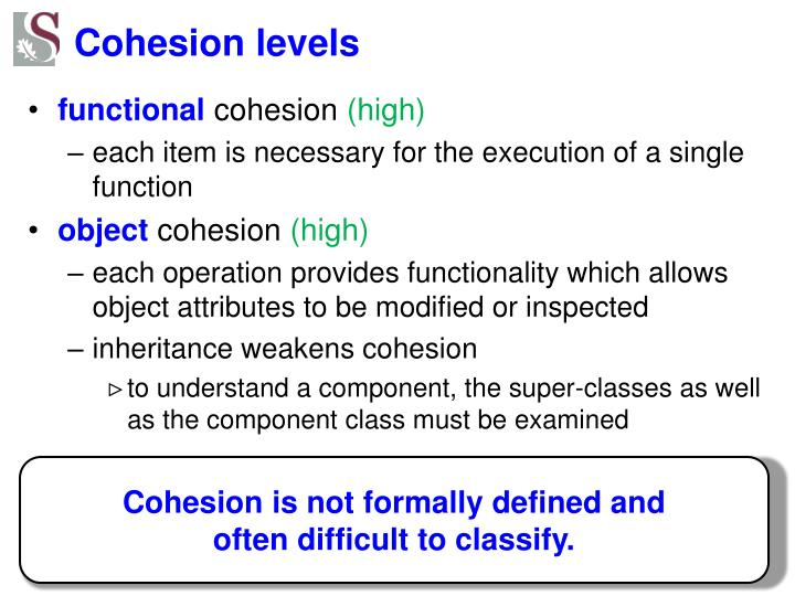 Cohesion levels