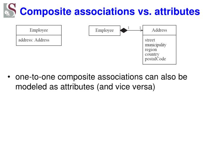 Composite associations vs. attributes