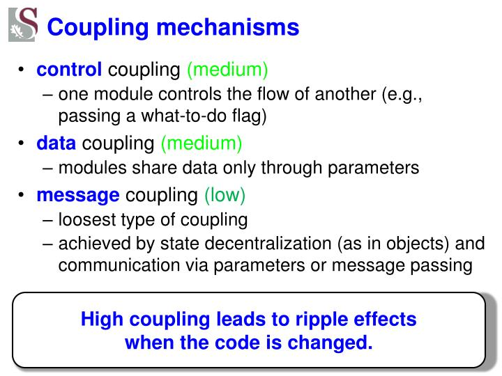 Coupling mechanisms