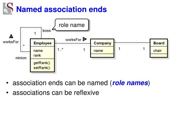 Named association ends
