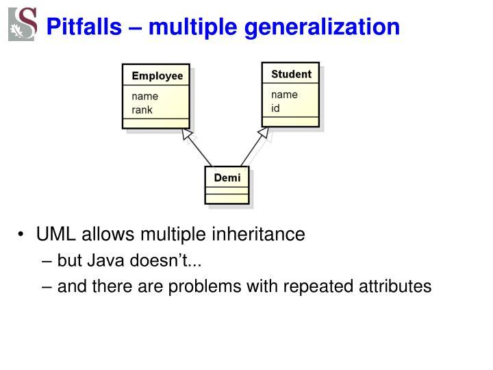 Pitfalls – multiple generalization