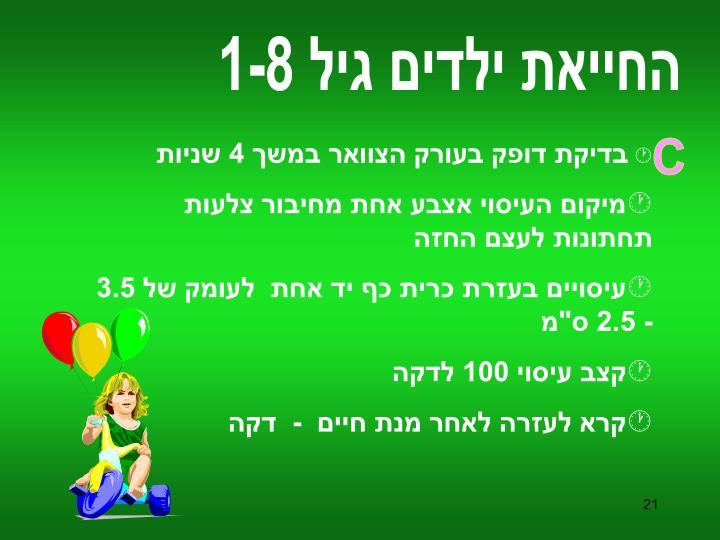 החייאת ילדים גיל 1-8