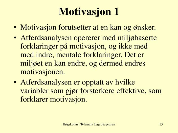 Motivasjon 1