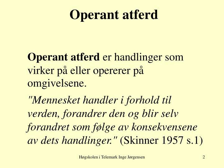 Operant atferd