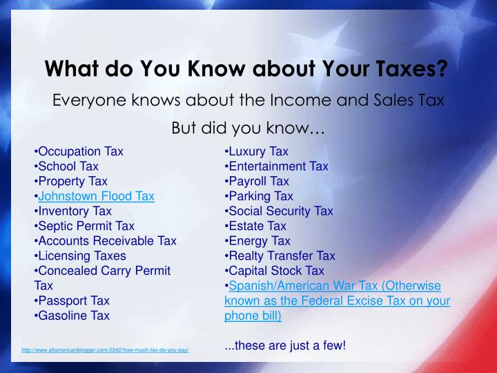 What do you know about your taxes