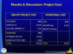 results discussion project cost