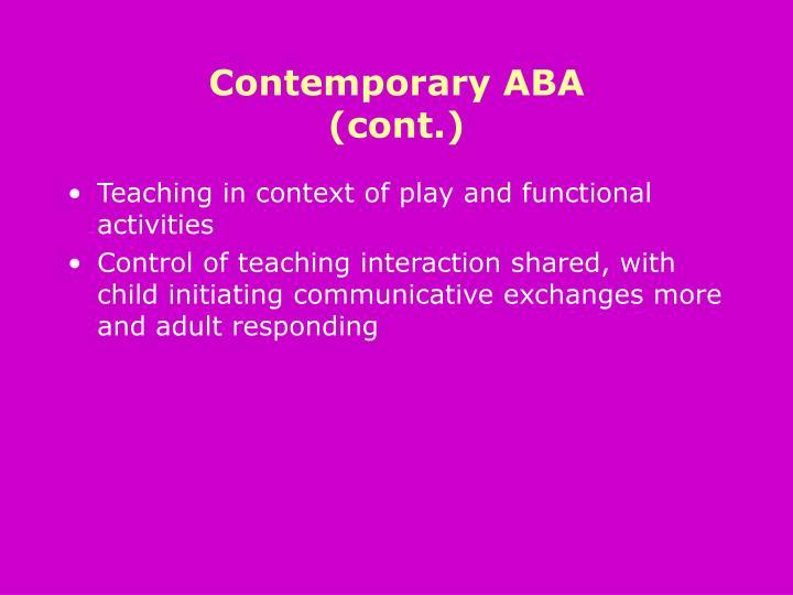 Contemporary ABA