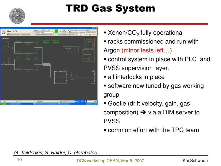 TRD Gas System