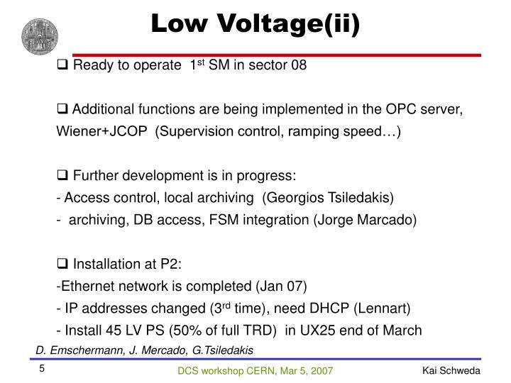 Low Voltage(ii)
