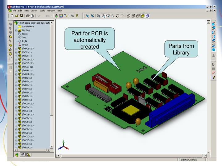 Part for PCB is automatically created