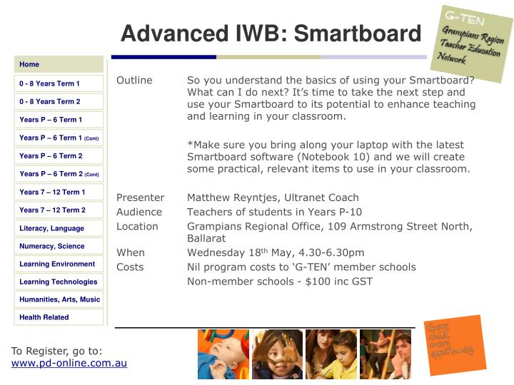 Advanced IWB: Smartboard