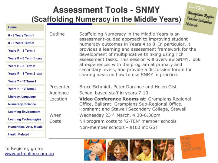Assessment Tools - SNMY