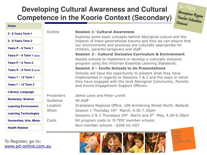 Developing Cultural Awareness and Cultural Competence in the Koorie Context (Secondary)