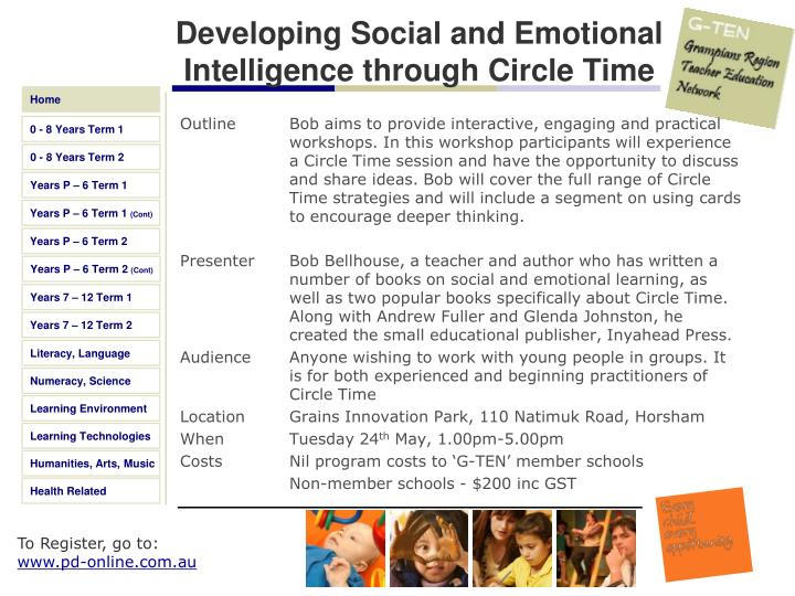 Developing Social and Emotional Intelligence through Circle Time