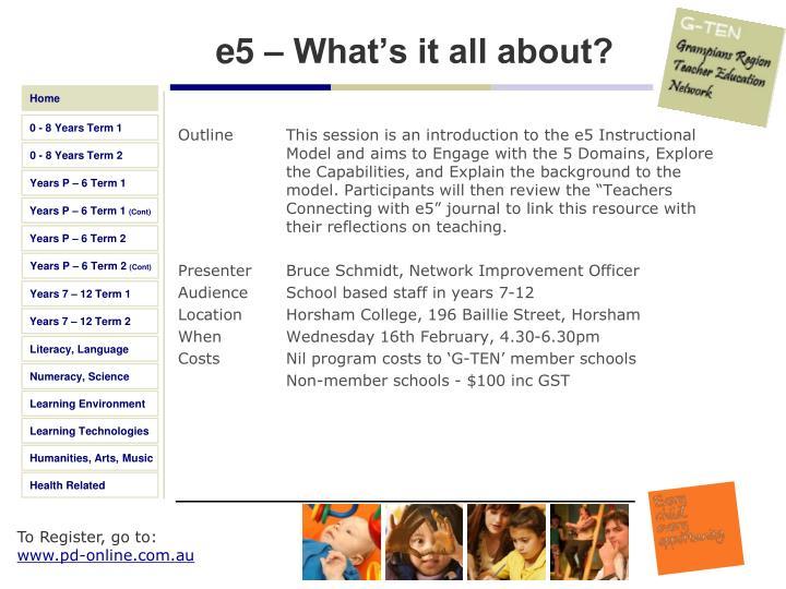 e5 – What's it all about?