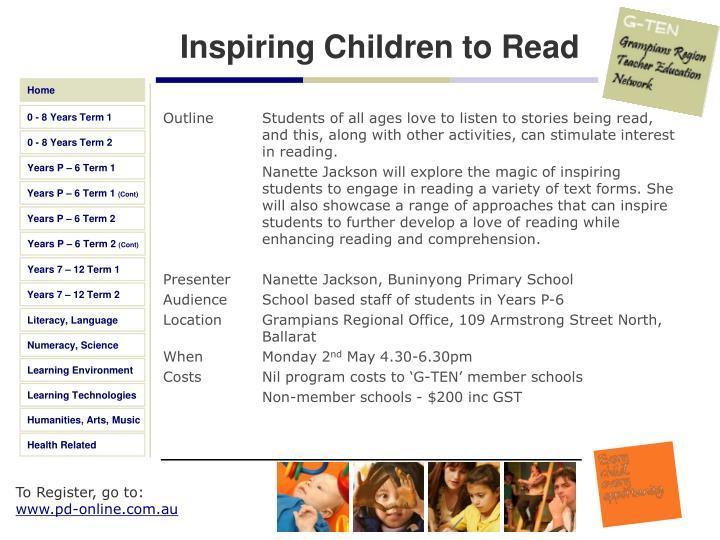 Inspiring Children to Read