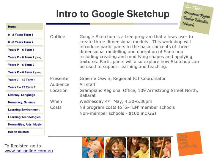 Intro to Google Sketchup