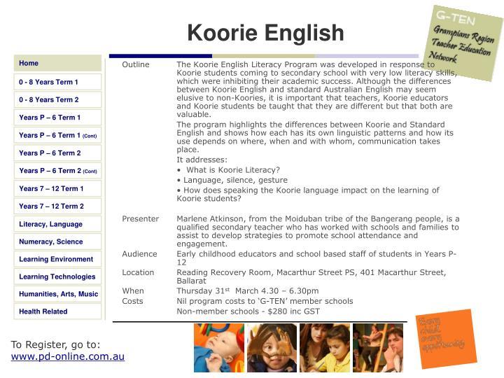 Koorie English